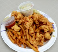 Fried Conch Fritters in #keywest.  AboutFantasyFest.com