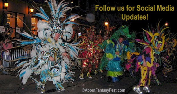 Colorful costumes during the Fantasy Fest Parade held the last Saturday of October.  MORE: AboutFantasyFest.com