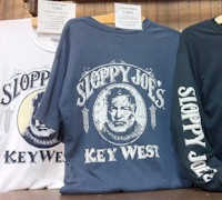 Popular bar t-shirts from #sloppyjoes in #keywest.  AboutFantasyFest.com